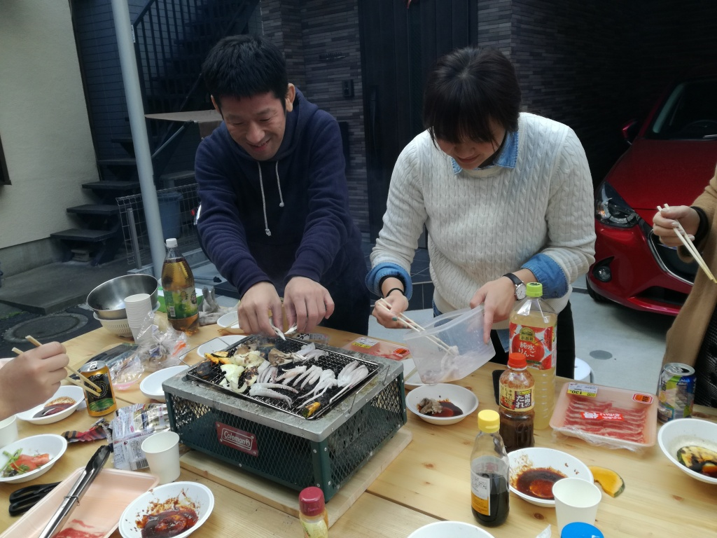 BBQ in front of Zoshigaya Neighborhood House 2